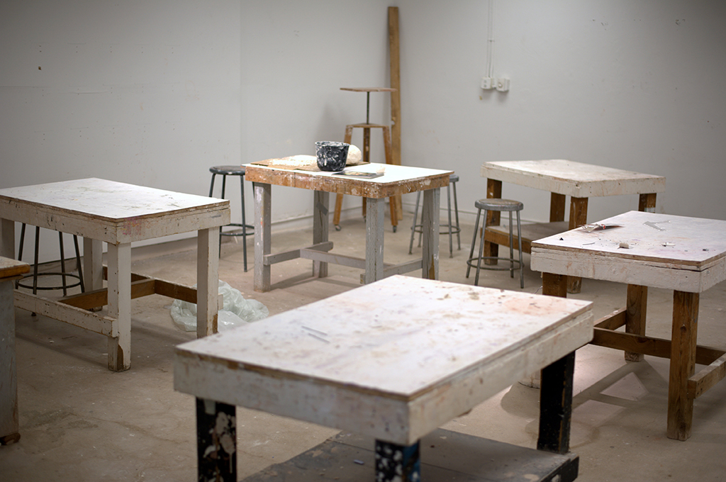 Plaster casting mould making studio