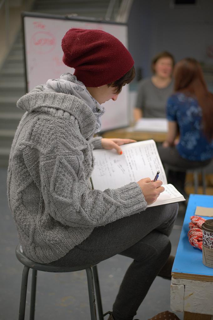 Student planning Sculpture classroom
