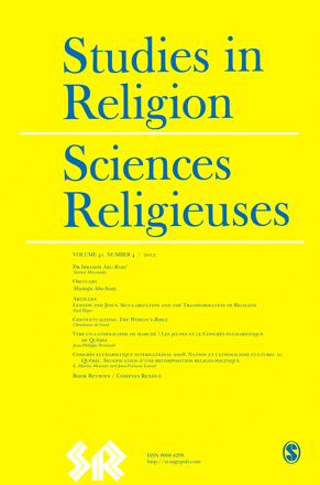 Religious Studies in Canada / Sciences religieuses au Canada