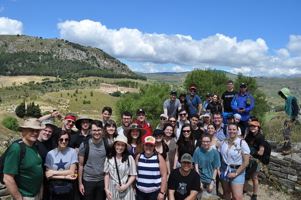 Students in Segesta, Italy