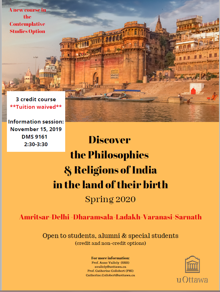 image of info session poster for India 2020