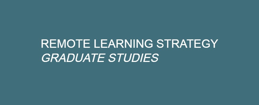 Remote Learning Strategy