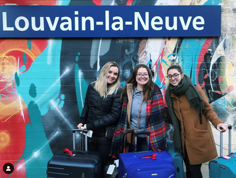 uOttawa students studying at the Université catholique de Louvain