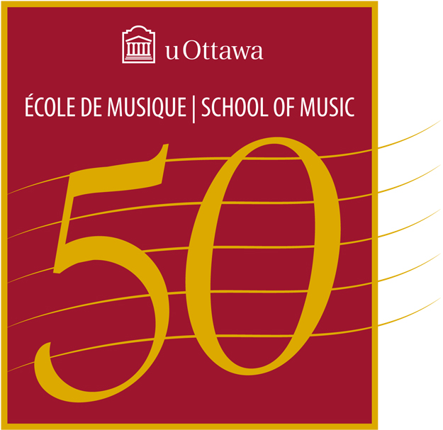 50th logo for School of Music