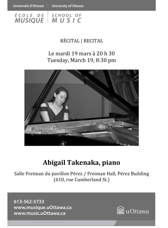 page 1- Abigail Takenaka recital program