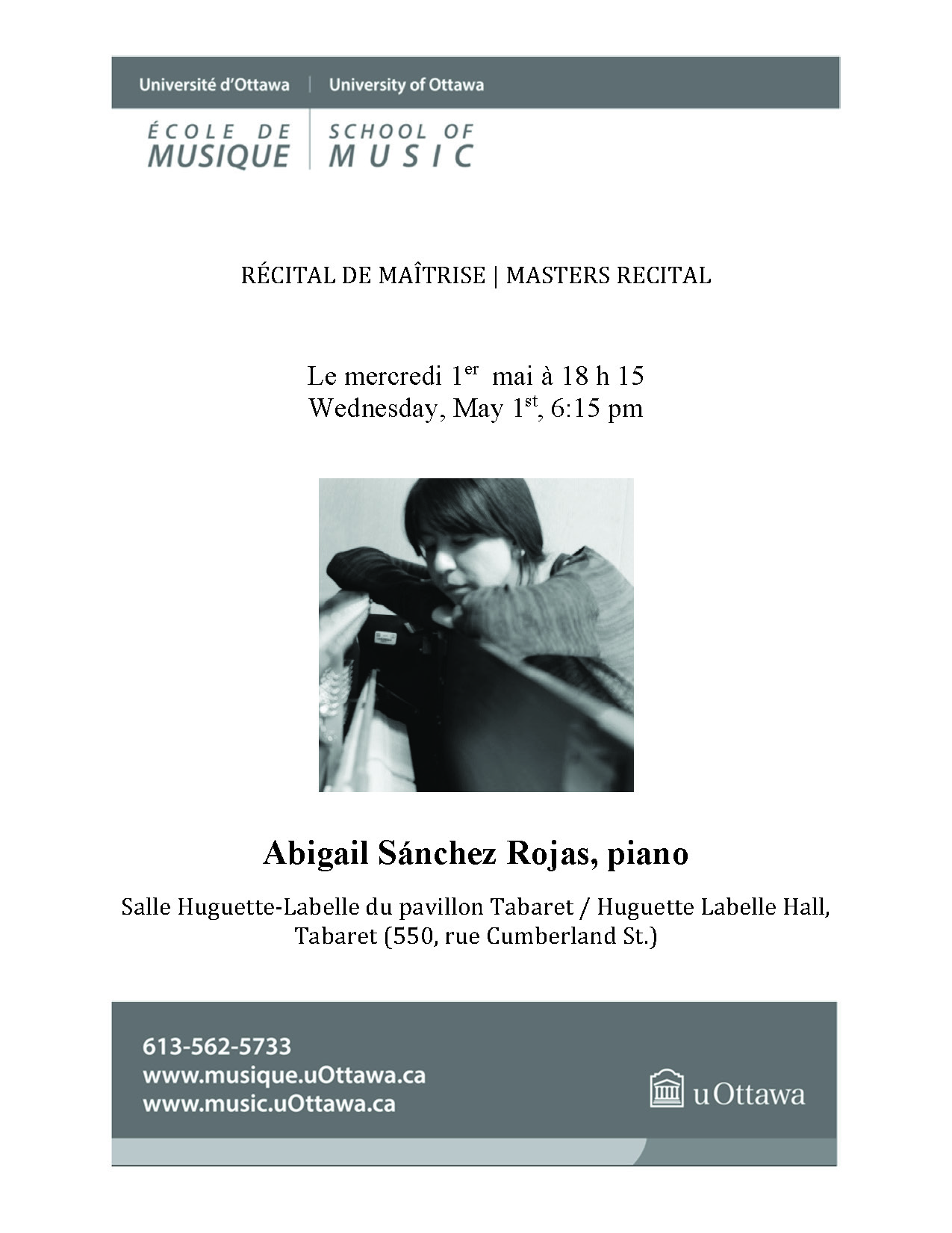 Recital program for Abigail Sanchez, p. 1
