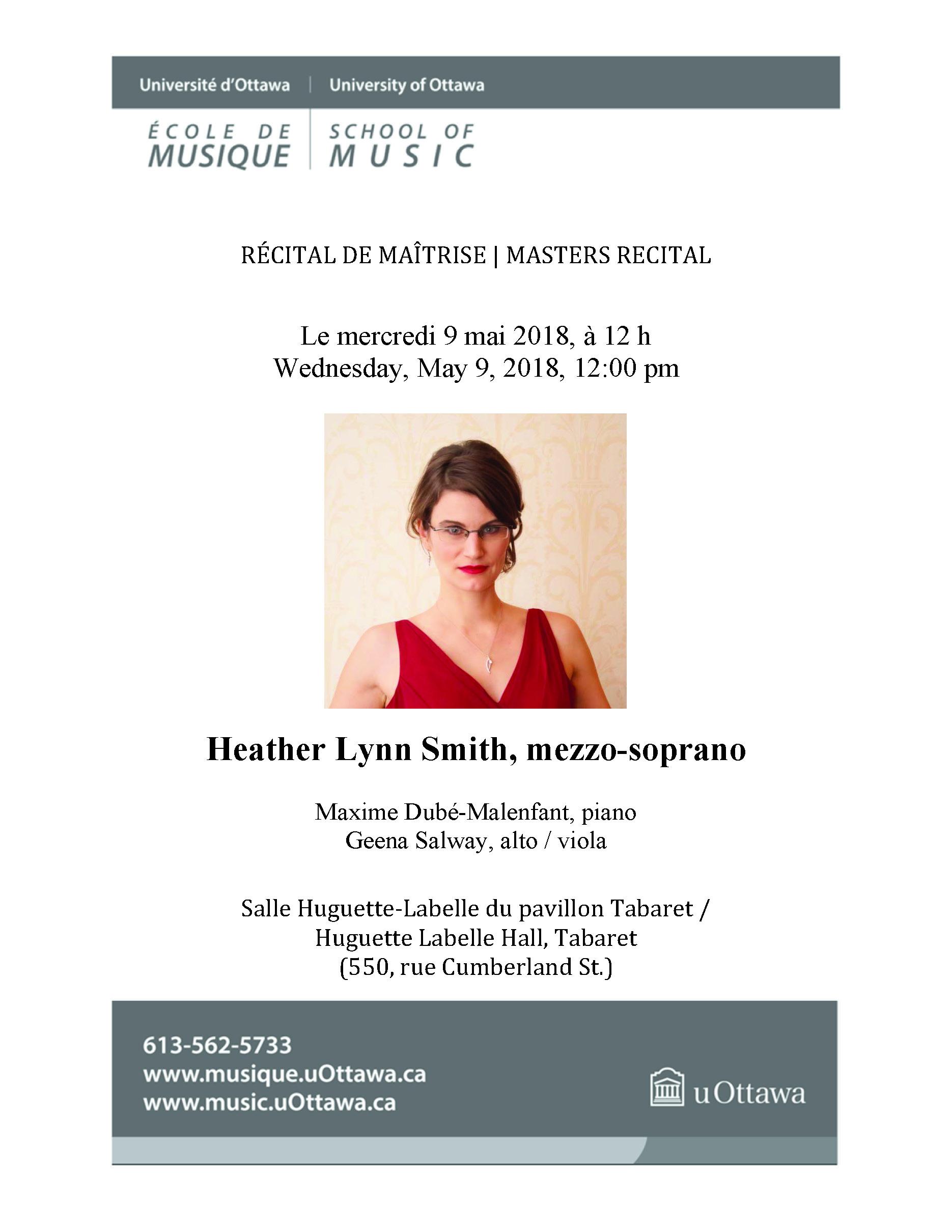 Page 1 of Heather Lynn Smith's recital program