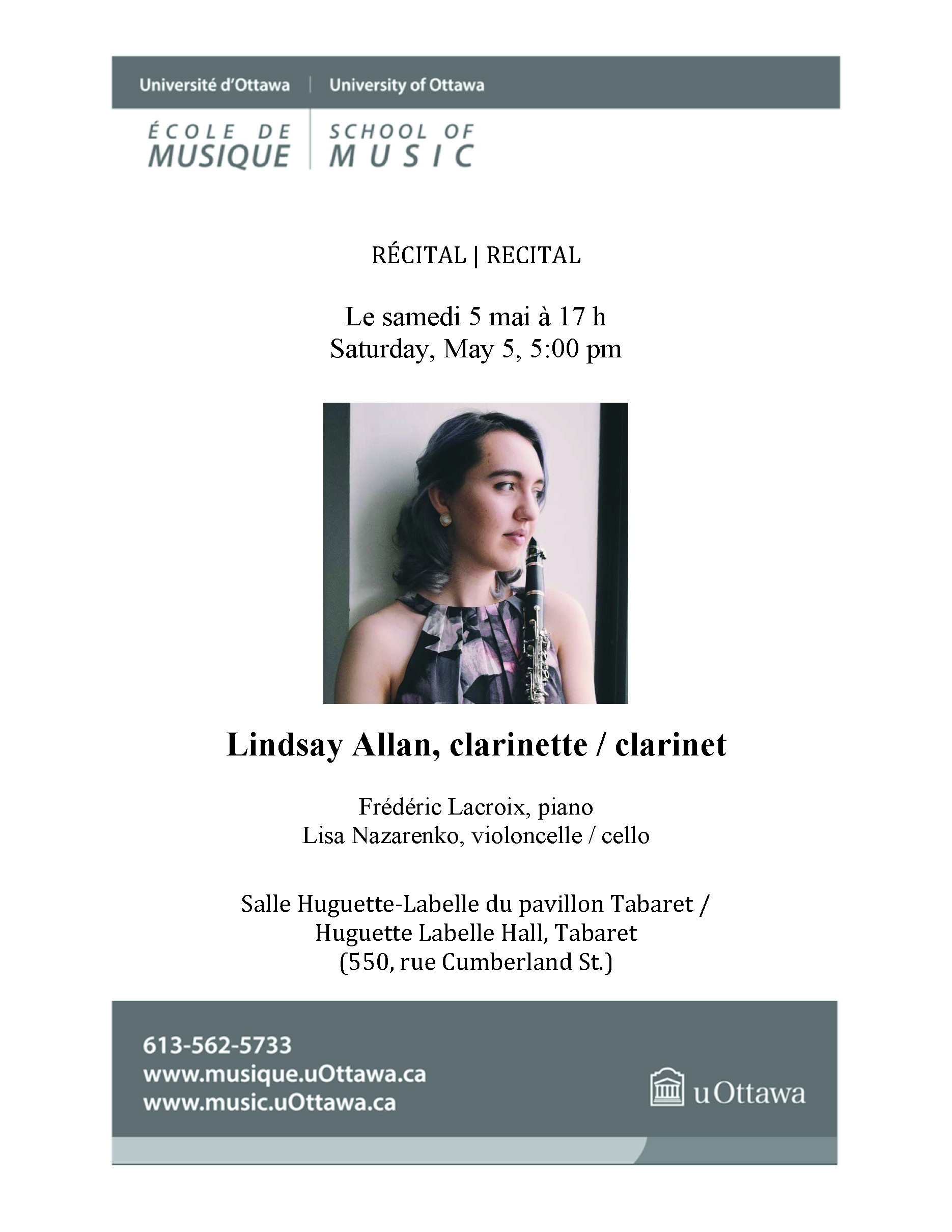 Page 1 of Lindsay Allan's recital program
