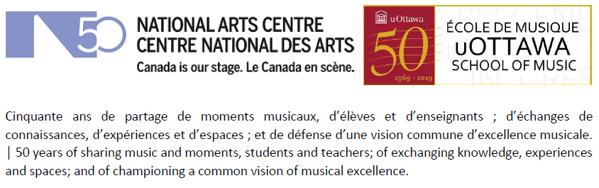 NAC et uOttawa École de musique 50e anniversaire