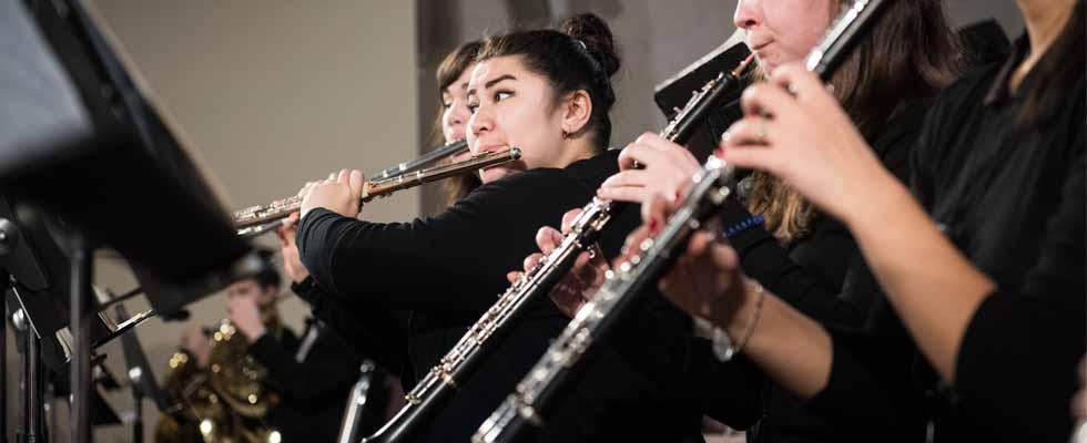 Photo de la section de flute et d'hautbois