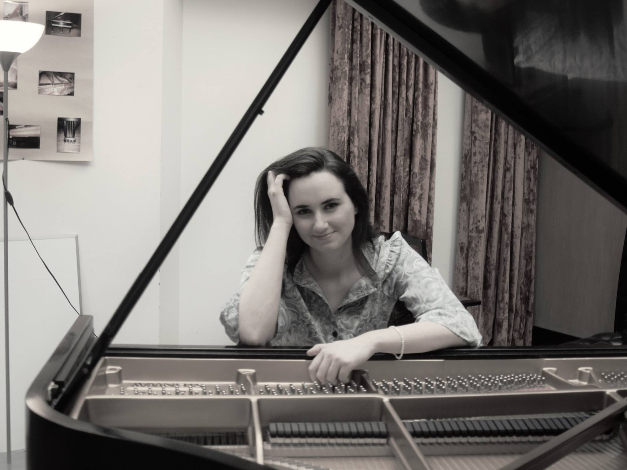 Sophia Stoney photo at piano