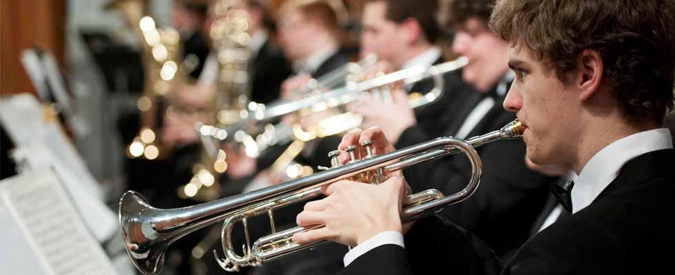 Photo de la section de trompettes de l'Harmonie de l'Université d'Ottawa