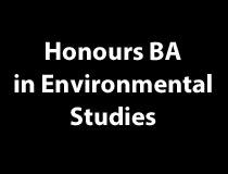 Honours BA in Environmental Studies