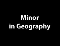 Minor in Geography