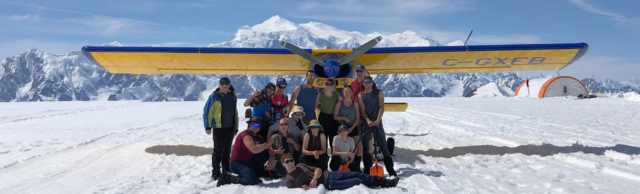 Group photo on icefield