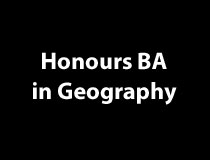 Honours BA in Geography