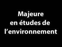 Majeure en études de l'environnement