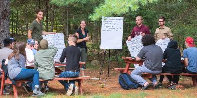 Étudiants GEG/ENV classe nature