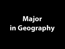 Major in Geography