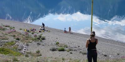 Surveying raised beaches