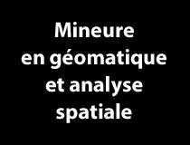 Mineure en géomatique et analyse spatiale