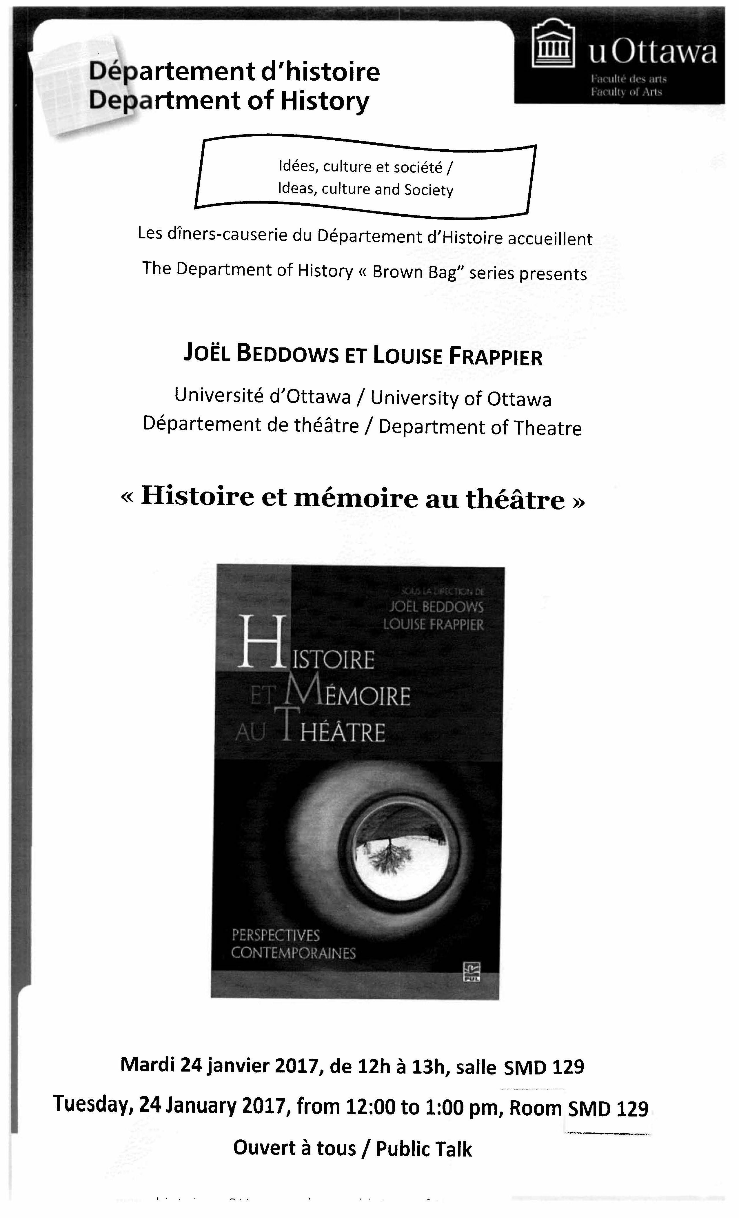 Histoire et mémoire au théâtre