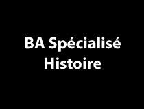 BA spécialisé en histoire