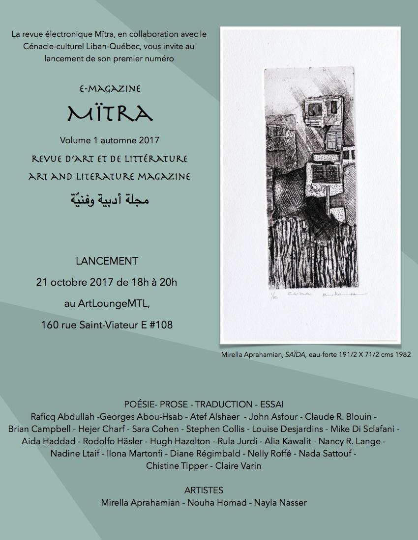 """Lancement de """"Mïtra"""""""