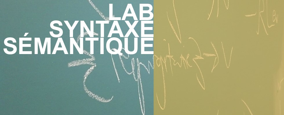 Laboratoire syntaxe sémantique