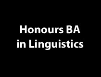 Honours BA in Linguistics