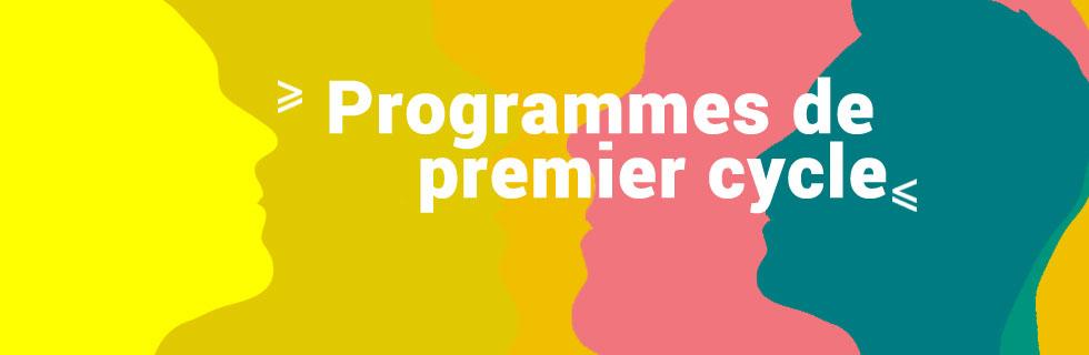 Programmes de premier cycle