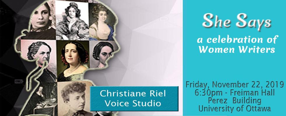Christiane Riel Voice Studio : She Says