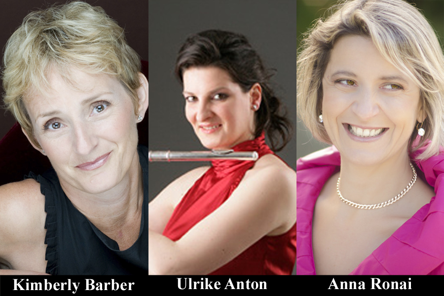 Photo montage of Kimberly Barber, Ulrike Anton and Anna Ronai