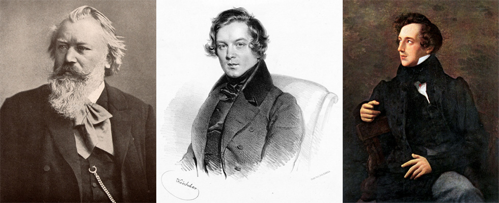 Images of Brahms, Schumann, and Mendelssohn