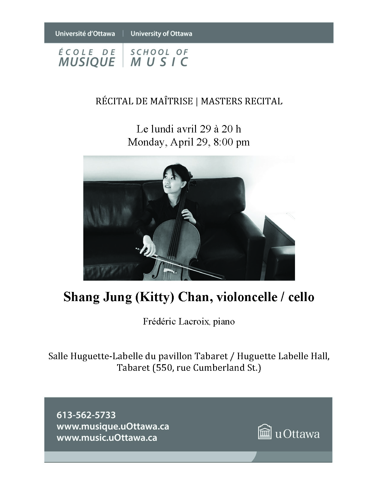 Recital program for Kitty Chan, page 1