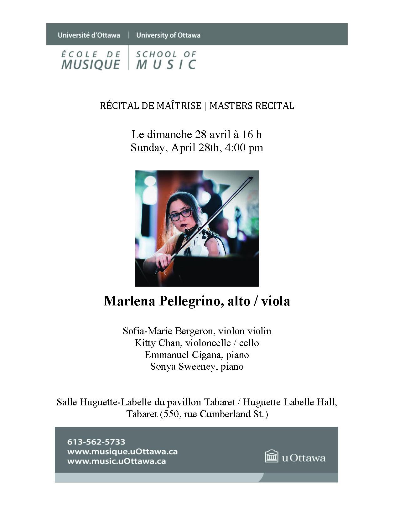 Marlena Pellegrino recital program, page 1