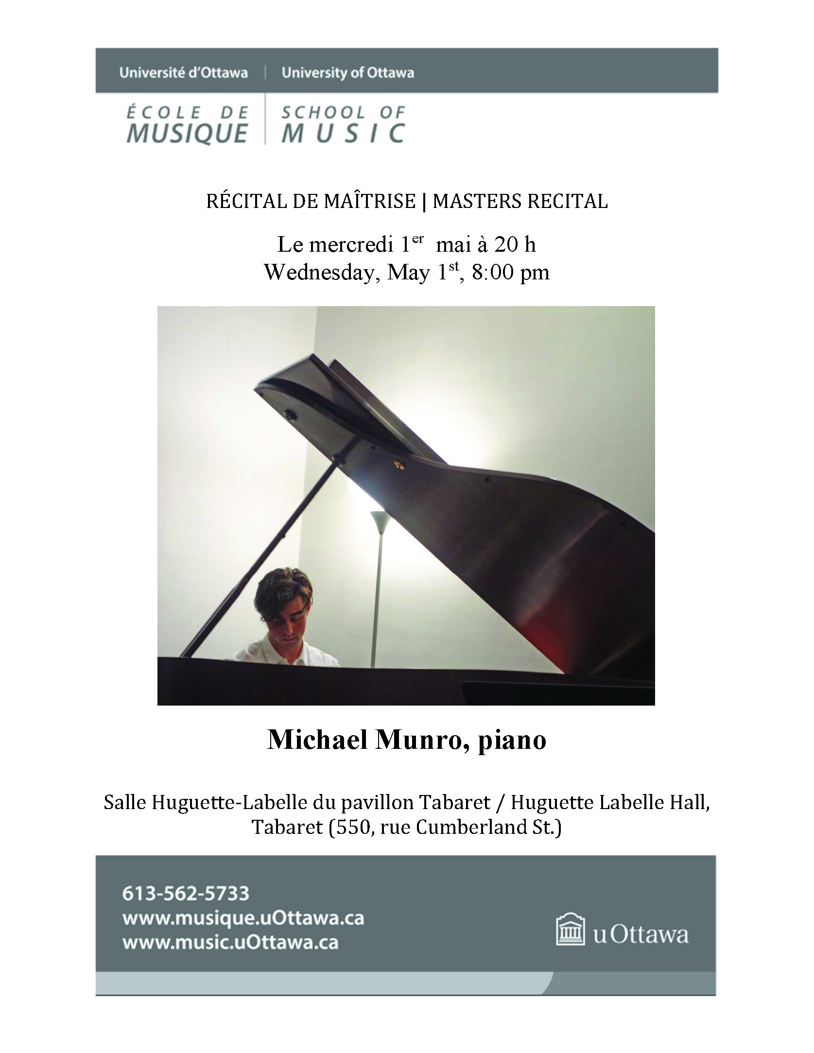 Recital program for Michael Munro, p. 1