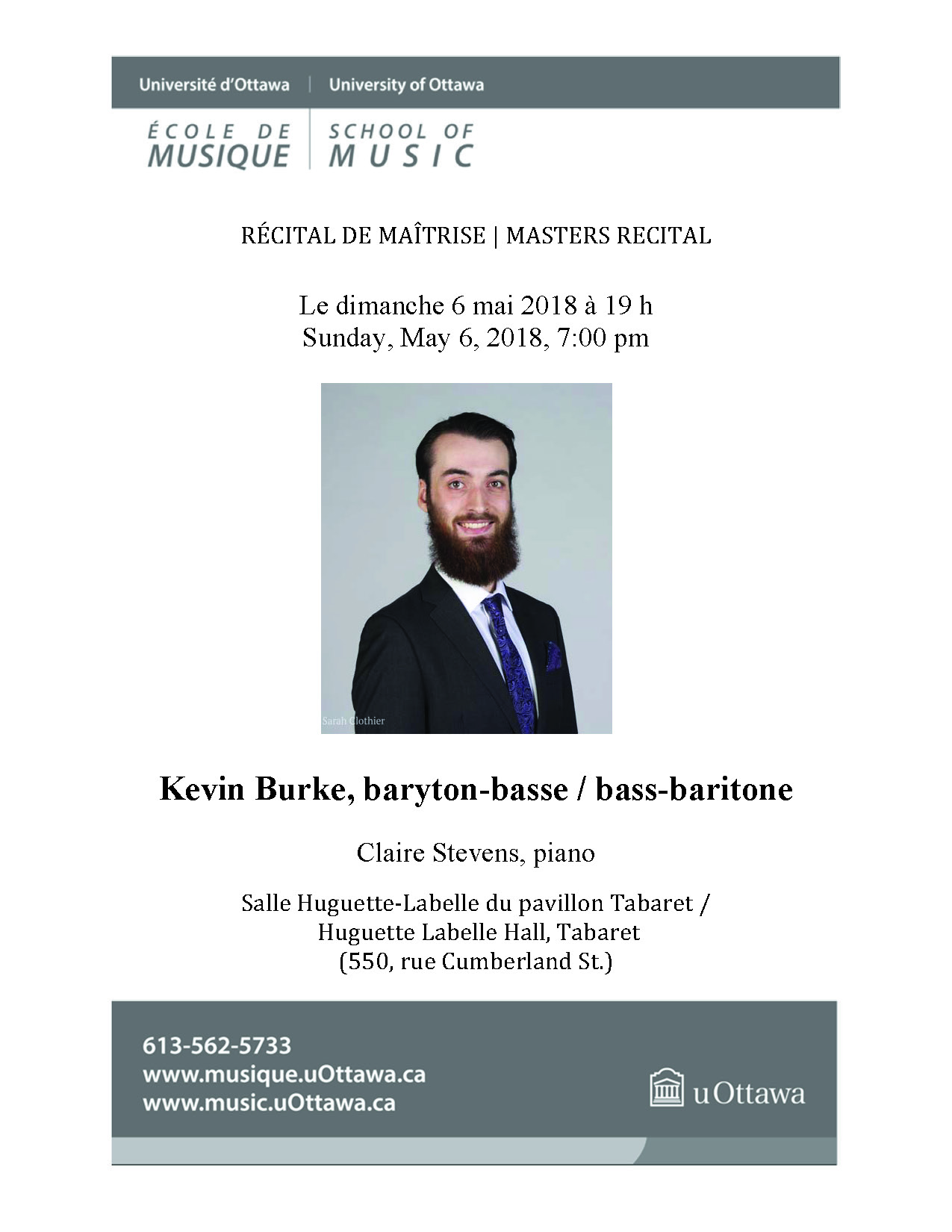 Page 1 of Kevin Burke's recital program