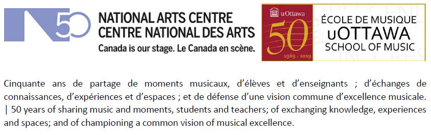 NAC and uOttawa School of Music 50th anniversary