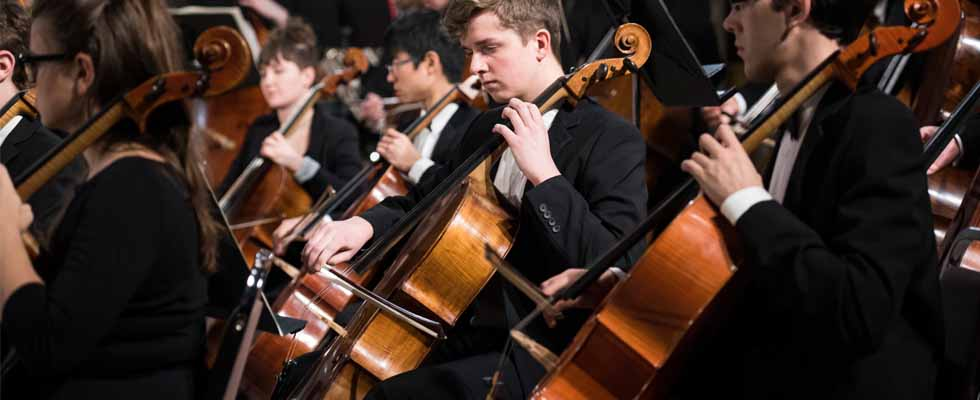 Cello section of the uOttawa Orchestra