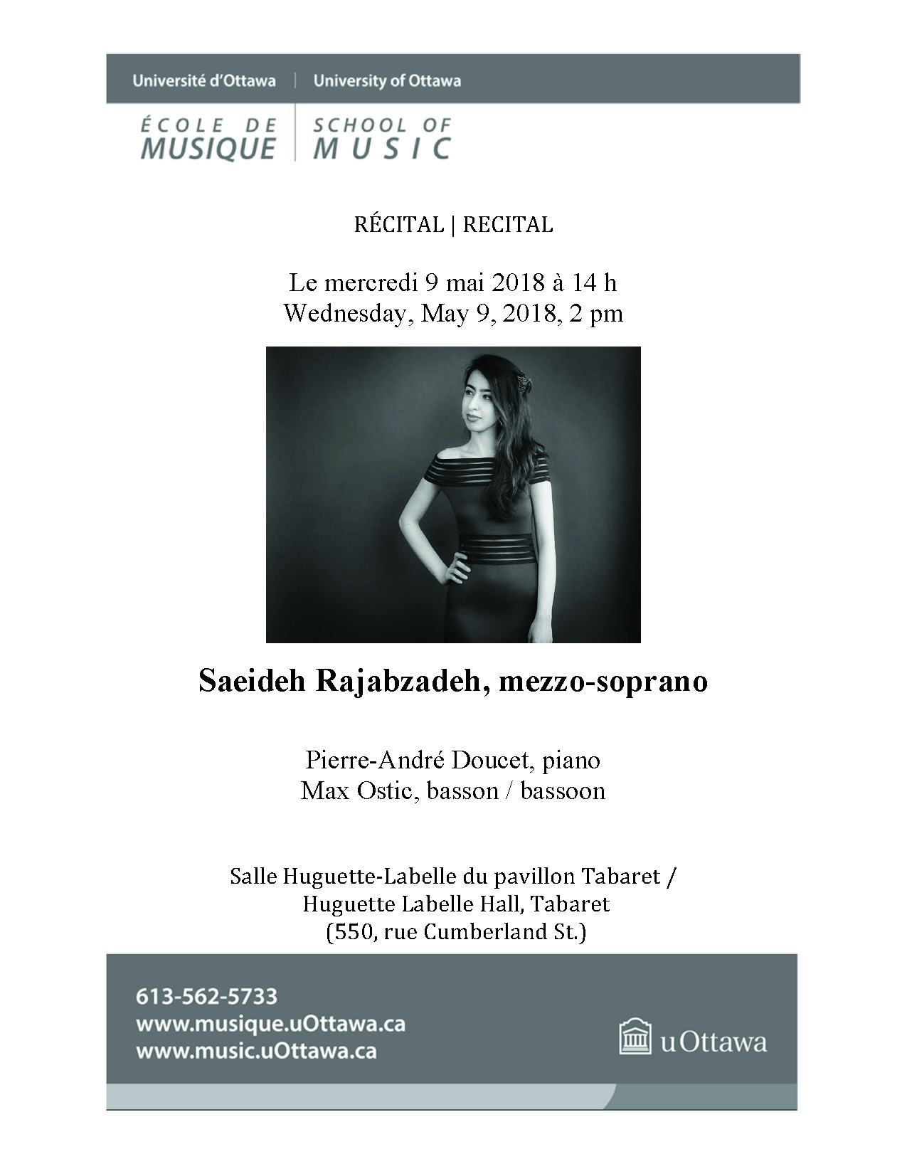 Page 1 of Saeideh Rajabzadeh's recital program
