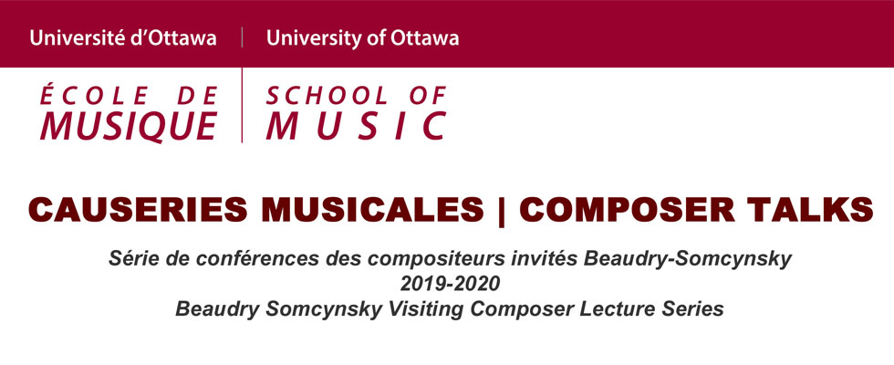 Causeries musicales / Composer Talks Banner