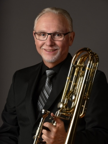 Douglas Burden photo with trombone