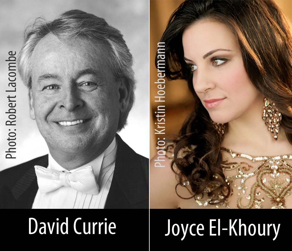 Photos of David Currie and Joyce El-Khour