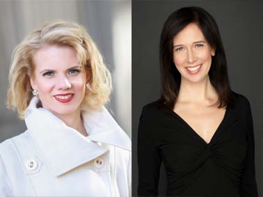 Composite photo of Maghan MacPhee (left) and Valerie Dueck (right)