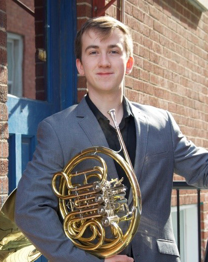Mark Constantine photo with horn