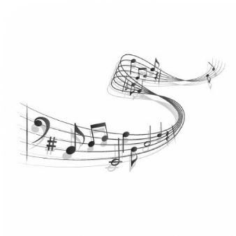 Curvy music score