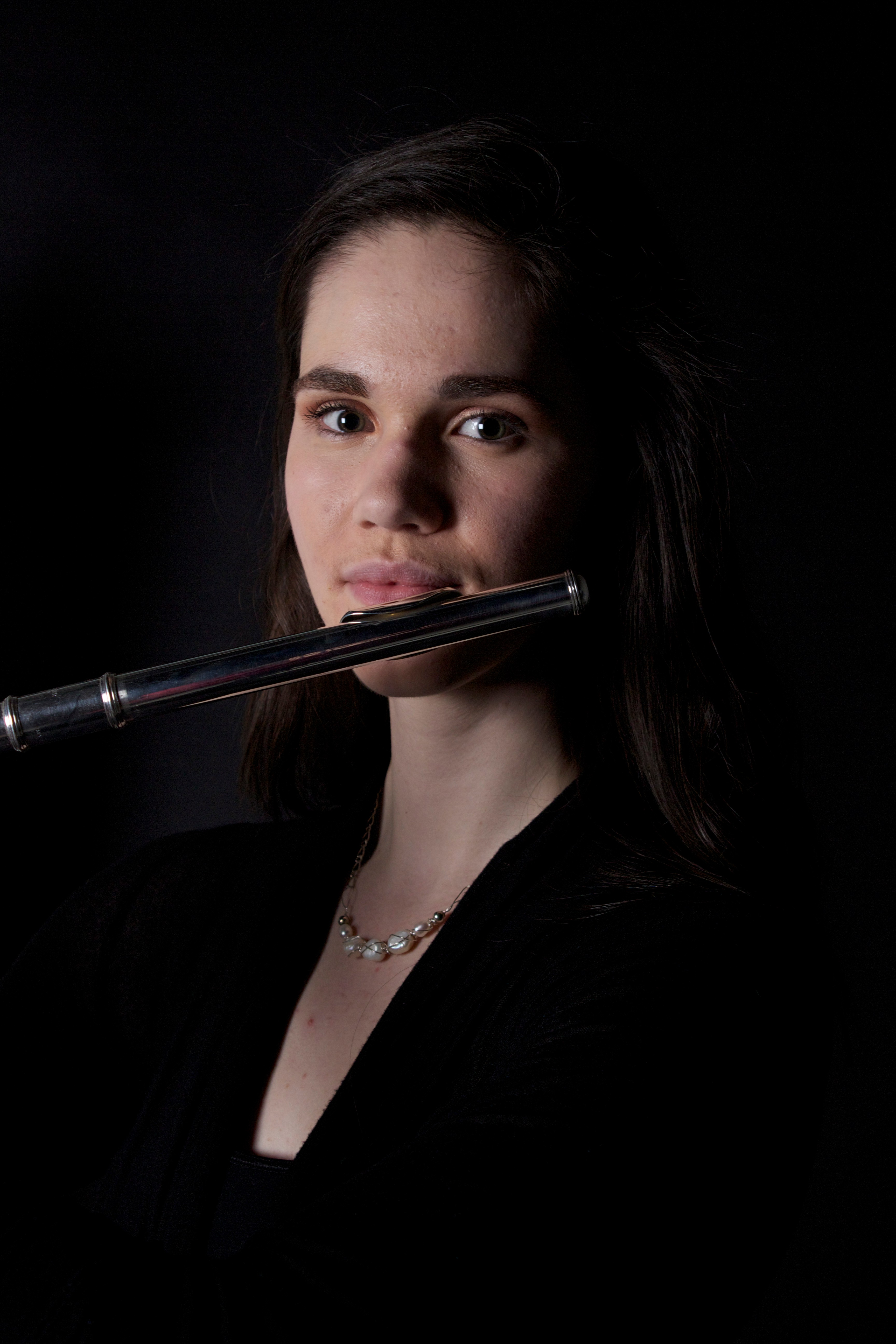 Photo of Phoebe Robertson with flute