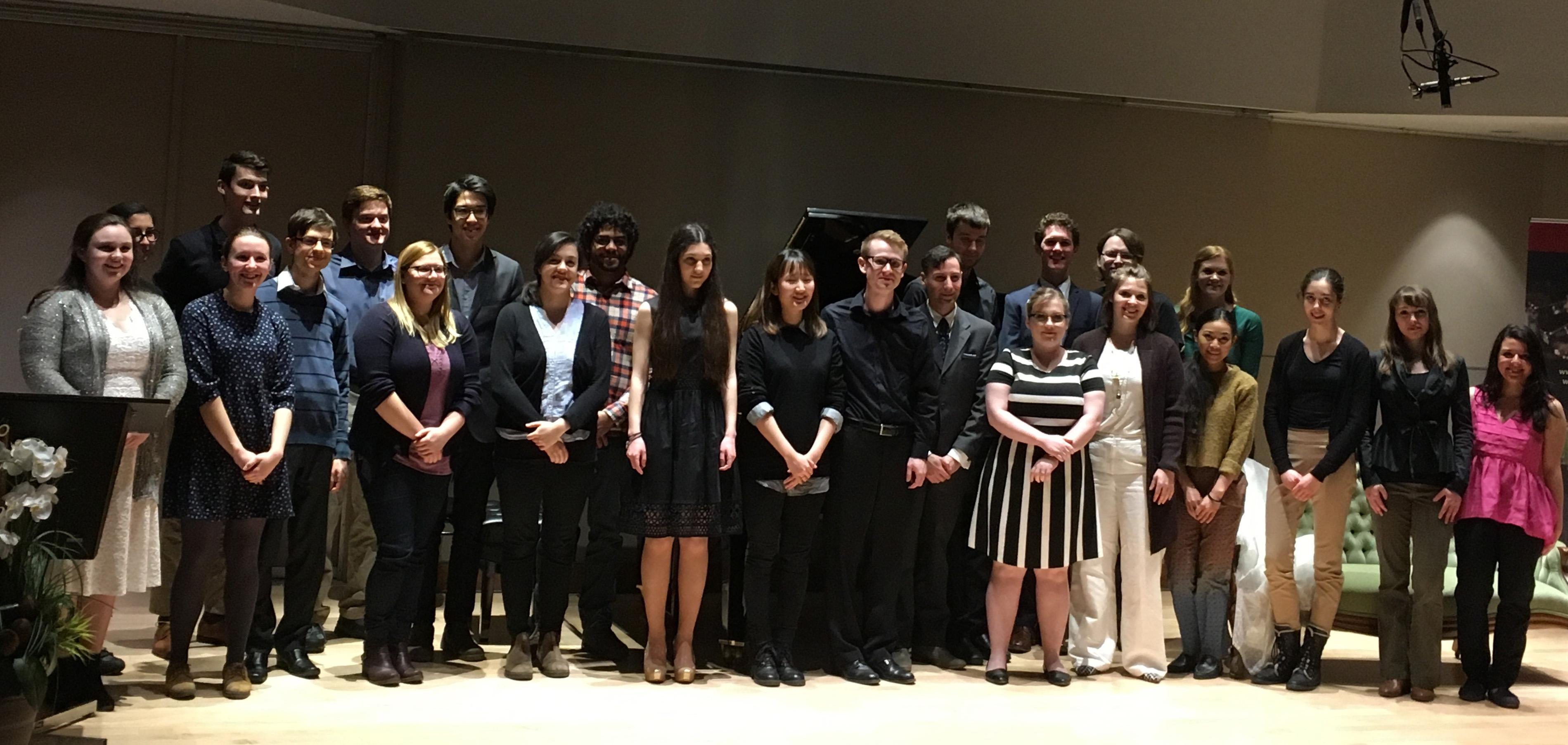 Photo of Scholarship Winners School of Music 2018
