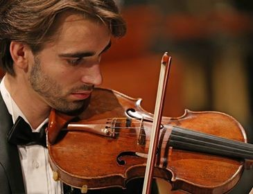 Trevor Wilson photo with violin